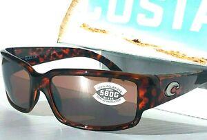 Costa Del Mar CABILITO Tortoise w Silver POLARIZED 580G GLASS Sunglass CL 10