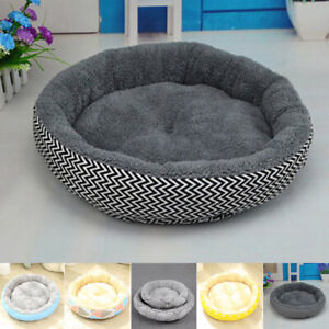 S/L Pet Dog Cat Bed Puppy Cushion House Soft Warm Mat Round Plush Durable