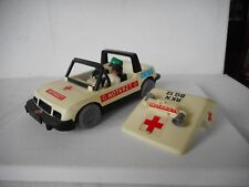 PLAYMOBIL GEOBRA NOTARTZ MEDICAL CAR 1977 WITH FIGURE NICE CONDITION