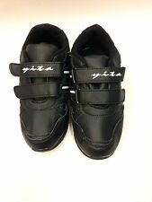 NEW QUALITY KIDS  BOYS & GIRLS BLACK OR WHITE TRAINERS SIZES 12 1 2 3 4 CHILD'S