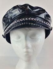 Amscan Black Sparkle Biker Costume Cap Hat w/ Chain.