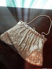 Mesh Whiting & Davis Co Purse Handbag Gold Color Vintage