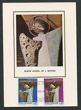VATICAN MK 1971 KUNST RUFFINI BLACK ANGEL MAXIMUMKARTE MAXIMUM CARD MC CM d5625