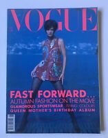 British VOGUE Magazine Aug 1990 Helena Christensen Cover, Stephanie Seymour RARE