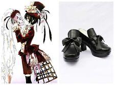 Black Butler Ciel Elegent Dark Cosplay Costume Boots Boot Shoes Shoe