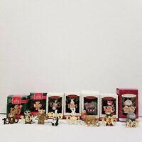 Lot of Hallmark Keepsake Ornaments Collector 1990-1997 Animals Raccoon Christmas