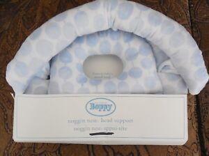 Pottery Barn Nursery Boppy Noggin Nest Head Support Blue Dot NIB
