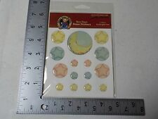 PAPER ADVENTURES BLUE JEAN TEDDY BEAR STARS DOME STICKERS SCRAPBOOKING A2525