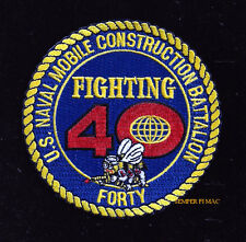 40th MOBILE CONSTRUCTION BATTALION PATCH NMCB US NAVY VETERAN PIN UP SEABEES WOW