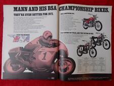 1972 Vintage Bsa Lightning 650 Victor 500 Magazine Advertising Ad Full 2-Page