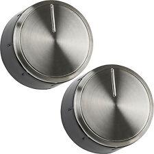 2 x Véritable BOSCH Four Cuisinière Bouton de contrôle Cadran Argent Noir 616100