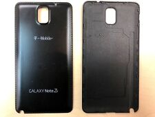 Battery Back Door Cover For Samsung Galaxy Note 3 Black w/ T-Mobile Lo