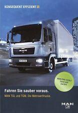 Prospekt MAN TGL TGM 5 09 2009 LKWs Broschüre Lastwagen Auto brochure truck