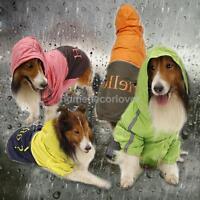 Size L-XXXL Big Pet Dog Rainwear Slicker Rain Coat Reflective Clothes Apparel
