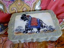 Éléphant Boîte ethnique indien en marbre Bijoux Fait à la main en Inde N6