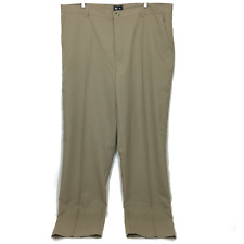 Adidas Mens Pants 42x37 Flat Front Beige