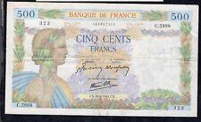 500 Francs La Paix  1942 Crispy VG/Fine