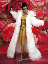 Eaki White Fur Coat For Evening Dress Gown Silkstone Barbie Fashion Royalty FR
