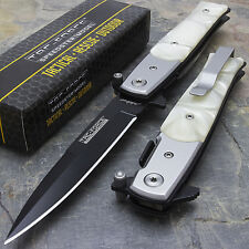 """8.5"""" TAC FORCE STILETTO PEARL GRIP TACTICAL SPRING ASSISTED FOLDING KNIFE Pocket"""