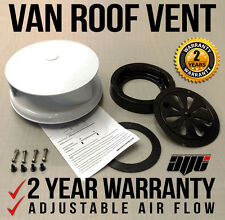 Wind Driven WHITE Roof Vent Rotating Van Dog Pet Horse Vehicle 4x4 Air Rotary