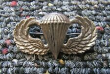 World War Two US Army Airborne paratrooper wings 1 1/2 in. sterling pin-back #2
