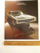1969 CHRYSLER - Original Prestige Color Sales Catalog - Brochure - (CDN)