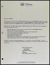 1999 Cadillac Escalade Product Portfolio Dealer Album Supplement