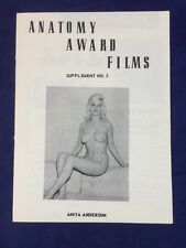 Vtg 50s Stag Film / Nude Pinups / Slide Risqué Mail Order Catalog Anita Anderson