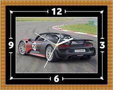 Reloj De Pared Porsche 918 Regalo Presente Navidad Cumpleaños (personalizable)