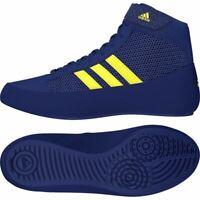 Adidas Havoc Kids Wrestling Boots Childrens Blue Boxing Training Shoe Boys Girls