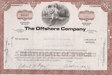 The Offshore Company.1968 Common Stock Certificate