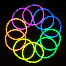 100 10'' Premium Lumistick Glow Stick Bracelets Assorted