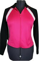 Athletic Works, Women's Pink Black & White Zip Front Jacket Ladies Small 4 - 6