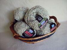 8 50g Skeins Marks Kattens Mixat Taupe / Brown Premium Boucle Wool Yarn