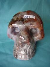 Crystal Skull large multi coloured agate geode