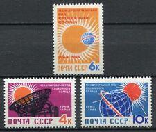 28727) RUSSIA 1964 MNH** Nuovi** Quiet Sun Year 3v.