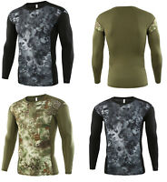 Men's Military Tactical Long Sleeve Army Shirt Combat Hunting Tights T-shirts