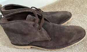 Lacoste Mens Lace Up Suede Desert Boots Brown Size 9