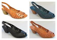 DJANGO & JULIETTE Gordon Peep Toe Leather Heels