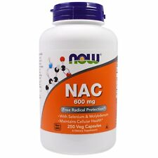 Now Foods NAC - 250 - 600mg Vcaps - Antioxidant Amino Acid with Minerals