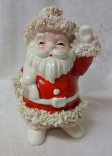 Vintage Napco Spaghetti Santa Ceramic Planter Christmas Decor 50's Nice