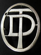 MONOGRAMMES ARGENT MASSIF DT TD INITIALE CHIFFRE SOLID SILVER MONOGRAMS ART DECO
