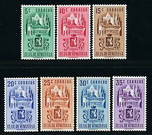 Venezuela 1951 Wappen I.I Bundesdistrikt Caracas 615-621 Postfrisch MNH M€ 230