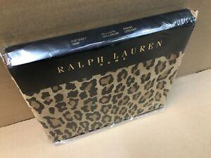 Ralph Lauren Home Bedding Double Flat Sheet 240cm x 290cm Leopard Print