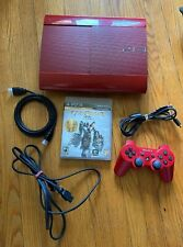 Sony PlayStation 3 500 GB Special Edition God Of War Red Console Tested PS3