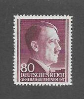 MNH Adolph Hitler stamp 80GR / 1941 issue / Third Reich / Occupied Poland / MNH