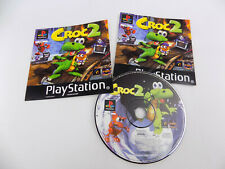 Playstation 1 Ps1 Croc 2 II - PAL - Disc + Manual + Front Cover