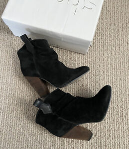 Topshop Women Ambush Suede Ankle Boots In Black Us Size 38
