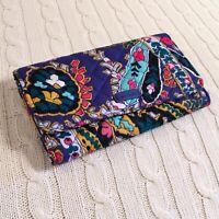 Vera Bradley Iconic RFID Audrey Wallet Romantic Paisley Blue Large NWT MSRP $50