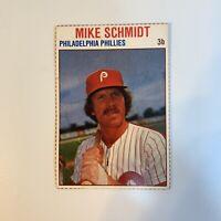 1979 Hostess Mike Schmidt # 9 Philadelphia Phillies Baseball Card Hand Cut HOF